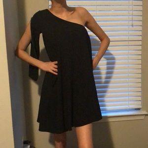 ALC black 1 shoulder dress